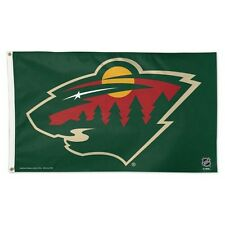 MINNESOTA WILD DELUXE HOUSE FLAG BANNER 3'X5' HIGHEST QUALITY OUTDOOR RATED