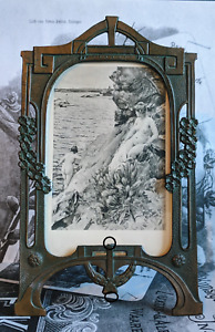 Beautiful Early 20th c. Art Nouveau Jugendstil Metal Picture Frame