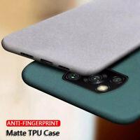 Case For Xiaomi Poco X3 NFC M3 Mi 11 10T Lite Sandstone Thin TPU Soft Back Cover