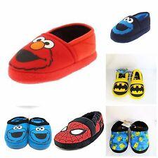 New Toddler Boys Slippers Elmo Cookie Monster Batman Minions Spiderman S M L