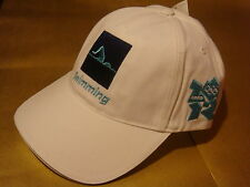London 2012 OLYMPIC Nuoto Logo Adulti Berretto Da Baseball Cappello Nuovo Con Etichetta Raro UK