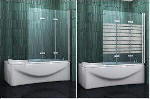 VARIO 130 x 140 Duschabtrennung Badewannen Faltwand Duschwand Dusche 5 mm Glas