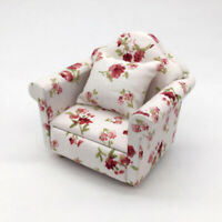 HB- 1:12 Dollhouse Miniature Furniture Vintage Sofa Armchair Couch Decor Toy San
