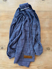 WildBird Ring Sling Chambray Blue Color Matte Silver Rings