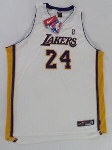 KOBE BRYANT Lakers #24 WHITE NIKE Authentic ON-COURT JERSEY Sz 60 NWT Damaged 4X