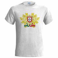 PORTUGAL COAT OF ARMS DISTRESSED LOOK MENS T SHIRT EMBLEM PORTUGESE QUINAS FLAG