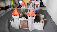 Grand château fort playmobil ref 3268 + figurines incomplet  boite copie notice