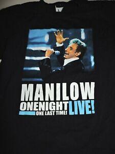BARRY MANILOW  t shirt medium ON NIGHT LIVE vtg 2004
