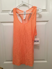 NWT Women's Patagonia Slub Orange Peach Workout Reversible Knit Tank Top Small