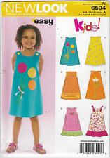 LOOK 6504 Size a Child Dresses Sewing Pattern Multi-colour
