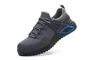 Men's Work Shoe Steel Toe Safety Lightweight Industrial Sneaker Hiking Shoe Gift