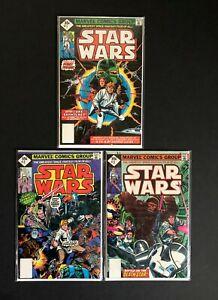STAR WARS 1, 2, 3 - Whitman Reprints - Marvel 1977