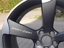 6x Zoom Zoom Mazda Aufkleber Logo Emblem für Räder, Lenkrad, Interieur usw.