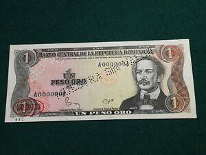 DOMINICAN REPUBLIC  1 PESO  1984 SPECIMEN ALMOST UNC