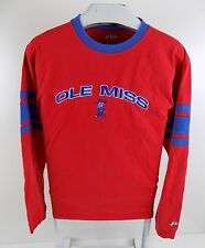 Ole Miss Rebels Ncaa Mens Long Sleeve Red Shirt Size Medium