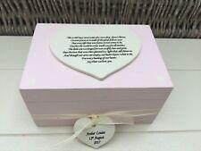 Shabby Personalised Chic Memory Box Baby Girl Memory Box Bereavement Daughter