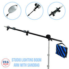 "Photo Lighting Boom Arm Saddle Sand Bag 33"" - 82"" Adjustable Photography Studio"