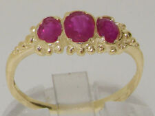 Ruby Yellow Gold Oval Fine Gemstone Rings