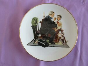 "NORMAN ROCKWELL COLLECTORS PLATE ""THE COUNTRY DOCTOR"" (ROCKWELL MUSEUM)"