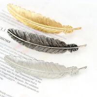 Fashion Women Feather Leaf  Hair Access Hairpin Hair Clip Barrette Bobby Pin Hot