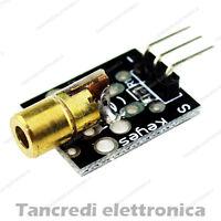 Modulo laser rosso 650nm scheda shield sensore 5v 5mW (Arduino-Compatibile)