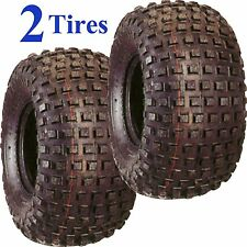TWO 22/11-8,22/11.00-8,22/11.00x8 ATV HONDA 4 ply Knobby Four Wheeler Tires