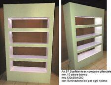 EXPOSITOR SCAFFALE FOREX CON IMPIANTO LED 4 RIPIANI BIFACCIALE cm.120x30xh200