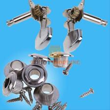 New Chrome Guitar String Tuning Pegs Tuners Machine Heads Acoustic Electric 6PCS