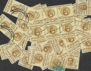 Postage Stamps For Crafting: 1958 4c Simon Bolivar; Brown; 50 Copies
