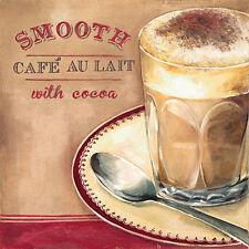 Elisa Raimondi: Café au lait Fertig-Bild 30x30 Schuh Wandbild Küche Kaffee