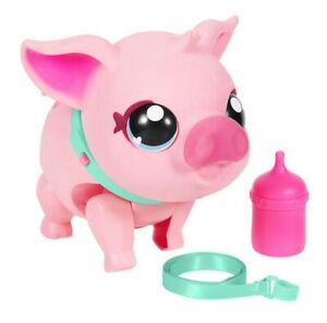 New Little Live Pets  - My Pet Pig With Sounds and Super Soft Jiggly Skin