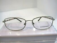NEW BURBERRY B 1221 SILVER 1145 METAL EYEGLASSES FRAME SIZE 54-17-135 ITALY
