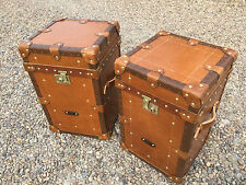 Leather Antique Style Unbranded Trunks and Chests