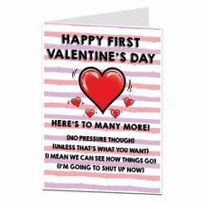 1st First Valentines Day Card Funny Design