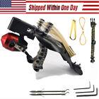 Fishing Slingshot Kit Reel Darts High Velocity Catapult Bowfishing Hunting Set