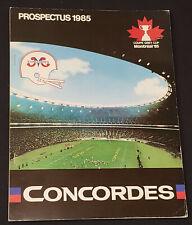 1985 - MONTREAL CONCORDES - CFL - FOOTBALL - PRE-SEASON PROSPECTUS - ORIGINAL