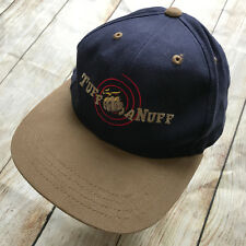 RESISTOL Tuf A Nuff Blue Tan Adjustable Baseball Cap Country Horse Riding  Hat b7fc786a9f3