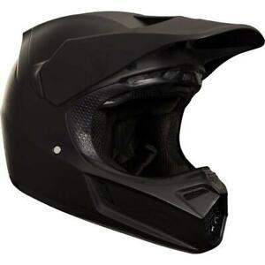 Fox V3 MVRS Matte Black carbon small helmet