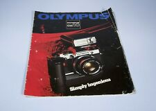 Olympus OM10 Marketing Booklet Leaflet * Nice Collectors Item *
