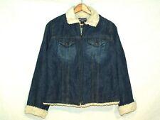 Steve & Barrys insulated western denim jean jacket / women generous L / b63