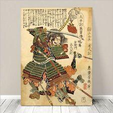 "Traditional Japanese SAMURAI Warrior Art CANVAS PRINT 8x10""~ Kuniyoshi  #040"