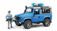 Land Rover Defender Police Car & Figure - Bruder 02597 Scale 1:16 NEW