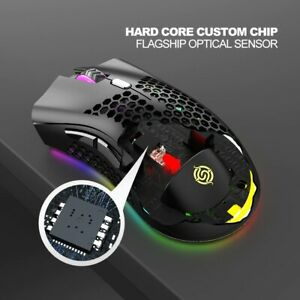Wireless Adjustable Gaming Mouse 1600 DPI RGB Backlit 7 Button USB Rechargeable