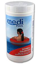 Chlortabletten, Schnellchlor Tabletten, Schnell ChlorTabs,20 gr, 1 KG mediPOOL