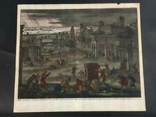 More details for hand coloured engraving by jan luyken exod 10:22.23 17th century deluxe edition