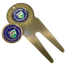 Vintage St. Andrews Links Old Course Divot Tool & Golf Ball Marker Fife Scotland