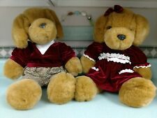 "TEDDY BEARS Stuffed Animals 19"" His &Her Removable Clothing CLEAN Displayed Only"
