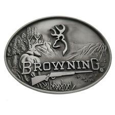 3c8e0c86701e Browning Buckmark Belt Buckle Silver Deer Country Hunting Fishing