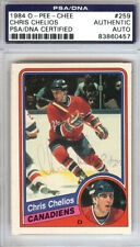 Chris Chelios Autographed 1984 O-Pee-Chee Rookie Card Canadiens PSA 83860457