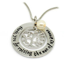 *UK* 925 SILVER PLT 'THANK YOU FOR RAISING THE MAN OF MY DREAMS' NECKLACE FIANCE
